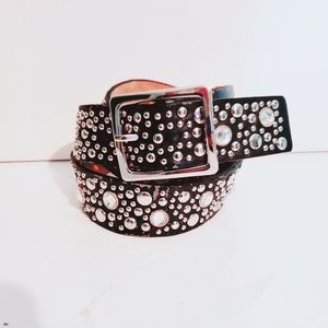 Rhinestone studded belt